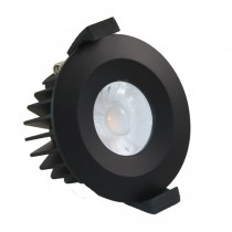 LED Downlight Fire Rated 6W 38° 3000K Black