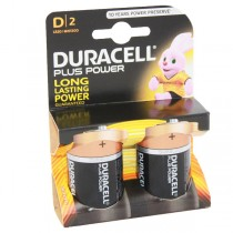 Duracell Plus Power Battery D MN1300 LR20 2pk