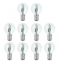 10 x Low Energy Halogen G45 28W B15D Clear