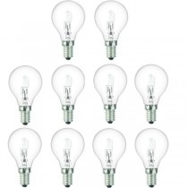 10 x Low Energy Halogen G45 18W E14 Clear