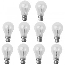 10 X Low Energy Halogen Light Bulb GLS 42W BC