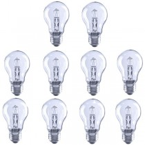 10X Low Energy Halogen Light Bulb GLS 42W E27