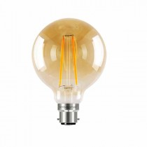 LED Edison Bulb G95 5w B22D Amber Dimmable