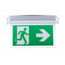 LED RECESSED FIXED EMERGENCY EXIT SIGN 6000K