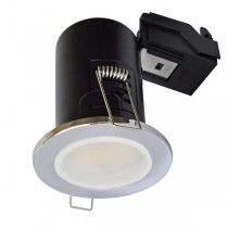 LED Downlight Chrome GU10 Fire Rated and lamp
