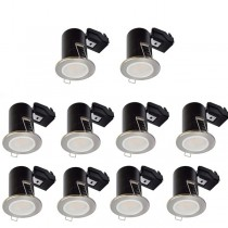 LED Downlight Satin GU10 Fire Rated 10 Pack