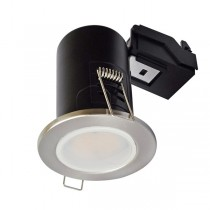 LED Downlight Satin GU10 Fire Rated with lamp