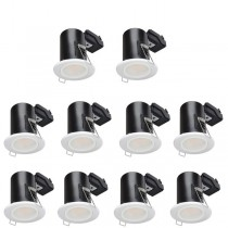 LED Downlight White GU10 Fire Rated 10 Pack