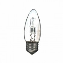 LOW ENERGY HALOGEN CANDLE BULB 18W E27 CLEAR