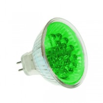 LED MR16 BULB GX5.3 GREEN 20 LED