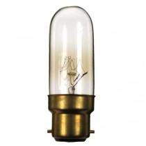 Tubular Bulb 240V 40W B22D 25X80MM