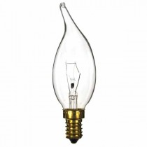 Bent Tip Candle 240V 40W E14 Clear