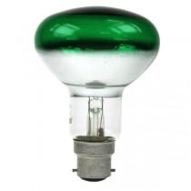 Reflector Spot R80 240V 60W B22D Green