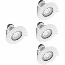 LED Downlight Fire Rated IP65 with lamp 4PK
