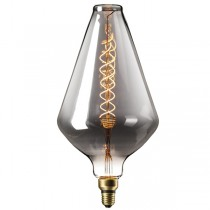DECORATIVE LED VASE 6W E27 TITANIUM DIMMABLE