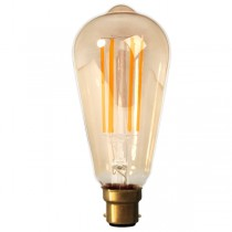 Calex LED Edison Bulb 4w B22d Gold Dimmable