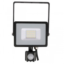 20w Slimline LED Floodlight Black PIR Sensor