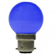 LED GOLF BALL BULB 240V 1W BC B22D BLUE