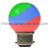 LED GOLF BALL 240V B22D COLOUR CHANGER