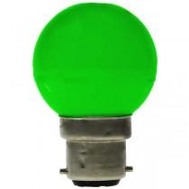LED GOLF BALL BULB 240V 1W BC B22D GREEN