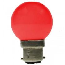 LED GOLF BALL BULB 240V 1W BC B22D RED