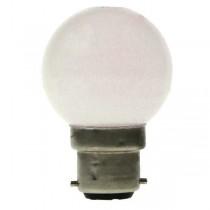 LED GOLF BALL BULB 240V 1W BC B22D WHITE