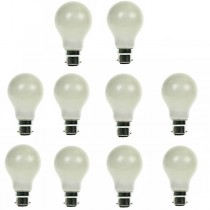GLS Light Bulb 240V 60W B22D Pearl 10 PACK