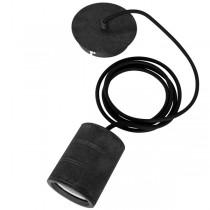 Single Retro Cord Set E40 Black