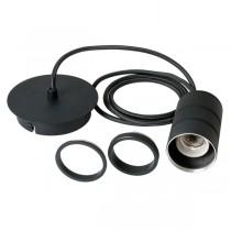 Single Retro Cord Set E27 Black