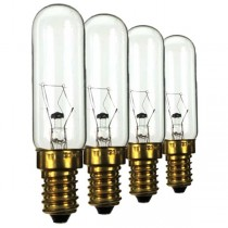 Cooker Hood Bulb 240V 40W E14 25X80MM 4 pack