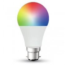 LED Smart LightBulb 9w B22d Warm White + RGB